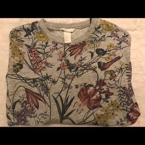 Floral H&M crew neck sweater
